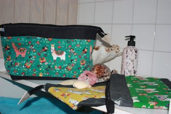 AFLA - Trousse en toile denim lamas